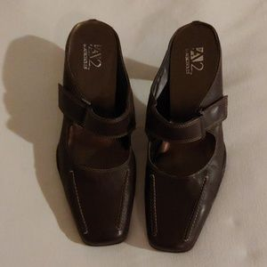 Aerosoles Brown Buckle Heeled Mules Size 9M